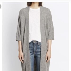 C.Rowley 100% cashmere feather grey cardigan